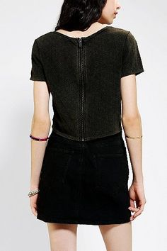 Silence + Noise Two Hearts Cropped Top