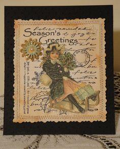 Vintage Seasons Greetings by luv2scrapnat (Natalie), via Flickr