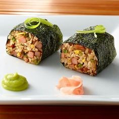 Adobo Fried Rice Spam Musubi Try Chef Adam Tabura's adobo fried rice spam musubi created for Spam brand as part of the Aloha Plate recipe collection which can be found on Spam's website: http://www.spam.com/recipes/Aloha-Plate