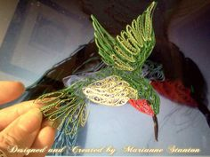 *QUILLING ~ Ruby throated Hummingbird designed for Quilling by Remington & Marianne on Facebook also on Etsy: QuillingByRemnMe