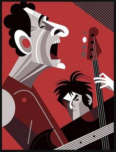 Pablo Lobato. Divididos Musik Illustration, People Illustration, Jazz Club, Create A Comic, Celebrity Caricatures, Music Artwork, Arte Pop, Band Posters, 2d Art