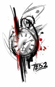 Clock Tattoo Design, Compass Tattoo Design, Tree Tattoo Designs, Clock Tattoos, Tree Tattoo Men, Arm Tattoo, Samoan Tattoo, Time Tattoos, Tattoos For Guys