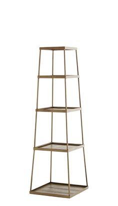 Industrial Stacking Shelves - 4 Compartments - Coffee