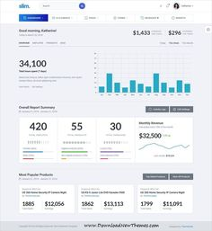 Buy Slim - Modern & Clean Responsive Bootstrap 4 Admin Dashboard Template by themepixels on ThemeForest. Slim, a modern and clean Bootstrap 4 admin and dashboard template using flat and minimal design. Financial Dashboard, Marketing Dashboard, Dashboard Interface, Analytics Dashboard, Business Dashboard, Dashboard Template, Dashboard Design, Ui Ux Design, Wireframe Design