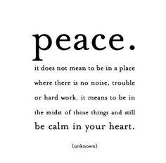 peace. love. happiness