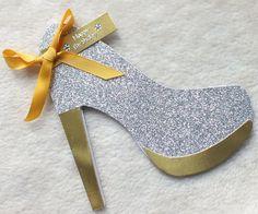 Glitzy Handmade High Heel Shoe Birthday Card £3.70