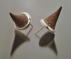 Thorn Earrings by lenastudio: Made of silver and thorns from the Palo Borracho tree in Argentina. $45 #Earrings #Thorn