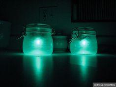 Glas, Marmelade, Einweckglas, Lampe, Licht, Solar, Leuchte, Garten, Beet, Dunkeln, selber machen, bauen, Gartenparty, BBQ