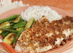 LeAnn Ludwig Tilapia   •2  tilapia filets •2 TB. olive oil •1/4-1/2 tsp salt     •1/4-1/2 tsp. PENZEYS GROUND PEPPER   •2 TB. flour   •1/4 C. milk     •1/2-2/3 C. chopped pecans  -   Season the tilapia with SALT and PEPPER. Coat the tilapia with the flour.   Coat the tilapia with the milk. Then add pecans.   Press the pecan mixture onto both sides and cook until the tilapia flakes about 4 minutes per side.