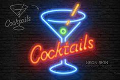 Neon Light Sign Photoshop Creator