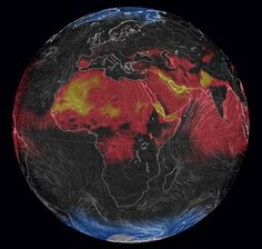planets-hot-weather-misery: .../wind/surface/level/overlay=misery_index/orthographic=... Link: http://www.citylab.com/weather/2014/07/a-lovely-animation-of-the-planets-hot-weather-misery/374878/