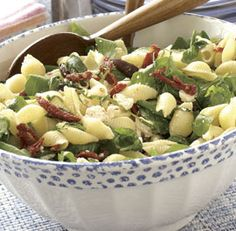Pasta Salad with Arugula, Feta & Sun-Dried Tomatoes - I've been wanting to make this for weeks- I am literally about to make it for the boys! so pumped!