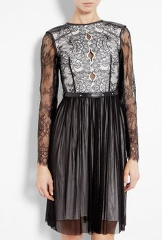 Maria Monochrome Lace Long Sleeve Dress by Catherine Deane