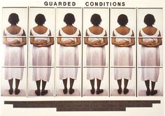 """Lorna Simpson  """"Guarded Conditions""""  1989"""