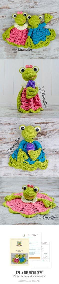 Kelly the Frog Lovey crochet pattern
