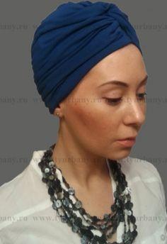 Женский тюрбан синий
