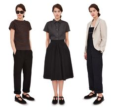 Miss Moss : Margaret Howell SS13  (I love the look in the middle)