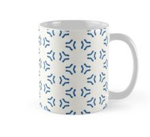 Acrylic Blue Triangular Circles Mug
