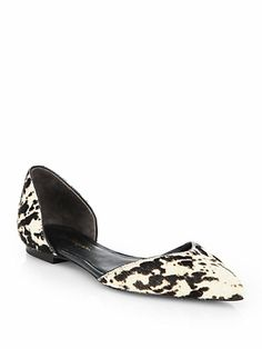 devon spotted d'orsay flats