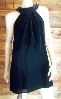 VINTAGE INTERNATIONAL CONCEPTS BLACK VELVET SIZE 6 DRESS ~ HAS TAGS…