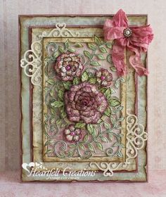 Heartfelt Creations | Vintage Floret Frame - I like the dies under the layers