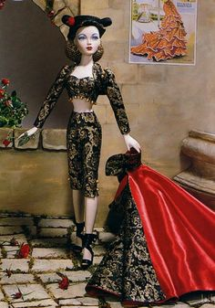 Gene Song of Spain Dressed Doll 1999 by Tim Kennedy Circa 1943 Original Price $99.95