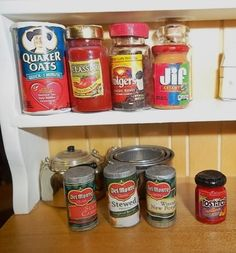 how to: canned foods for the dollhouse pantry