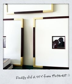 DIY Gold Corners on Picture Frames
