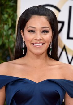 Pin for Later: The Hottest Celebrity Faux Tans From the Red Carpet Gina Rodriguez