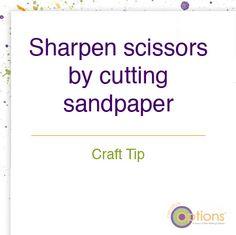 Sharpen scissors #crafttip