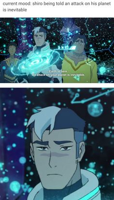 voltron, current mood: shiro being told an attack on his planet is inevitable