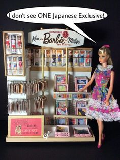 #1:6scale Barbie display created by Laurel Schwing