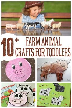10 simple farm animal crafts ideal for spring to do with toddlers and preschoolers. These fun crafts are easy to do and set up and come with step-by-step instructions on getting creative with the little ones. Ideal for making at home or in your classroom. Farm Animal Crafts, Farm Crafts, Animal Crafts For Kids, Preschool Crafts, Farm Animals, Kids Crafts, Farm Activities, Animal Activities, Toddler Activities