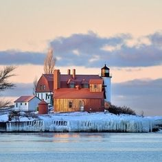 A calm winter sunrise at Point Betsie from @Neil Weaver. Happy Monday, #PureMichigan fans. Have a great week!