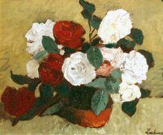 Trandafiri Art Floral, Woman Painting, Painting & Drawing, Canvas Online, Social Art, Thing 1, Art Database, Still Life Art, Oil Painting Reproductions
