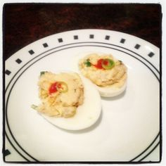 What Cheer Tavern's bacon kimchi devil eggs 11.2.2013
