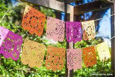 DIY Papel Picado Banner for Cinco de Mayo