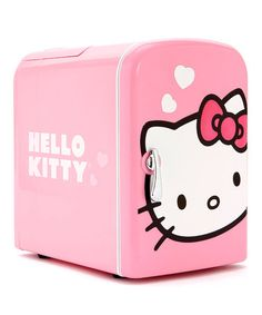 SO WANT THIS!!!! Take a look at this Hello Kitty Mini Refrigerator by Hello Kitty Appliances on #zulily today!