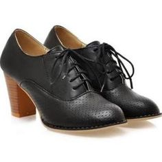 bd51da3098a Aliexpress.com   Buy Plus Size 4 12 New 2014 Thick Heel Lace Up .