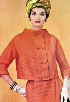 Orange Fashion, 1961, very MCM in design but much colors hint at what is to come.
