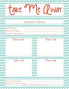 Take the Work Out of Summer Planning! 7 Free Printables to Help!