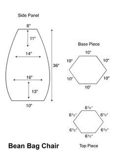 Diy Bean Bag Chair Template   Google Search