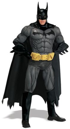 Amazon.com: 12 Piece Set Collector's Edition Adult Batman Costume, One Size: Clothing