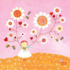 Cuadro infantil Hada de la primavera. Una decoración 100% creativa.