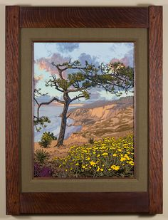 Aged Torrey Pine - Showcasing the beautiful Southern California, San Diego coastline. - Arts & Crafts - Craftsman - Bungalow - Keith Rust Illustration Framed Giclée Prints — Blog — Keith Rust Illustration