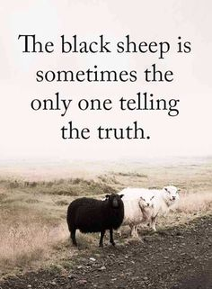 """67 Motivational Memes – """"The black sheep is sometimes the only one telling the truth. Quotable Quotes, Wisdom Quotes, True Quotes, Great Quotes, Quotes To Live By, Inspirational Quotes, True Sayings, Motivational Thoughts, Sassy Quotes"""