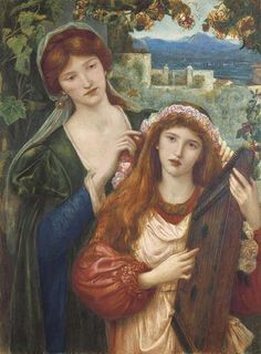 ♪ The Musical Arts ♪ music musician paintings - Marie Spartali Stillman   The Childhood Of St Cecily, 1883 - Pinterest