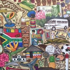 A1 sized South African colouring in poster #colourinsa #YouBiscuit