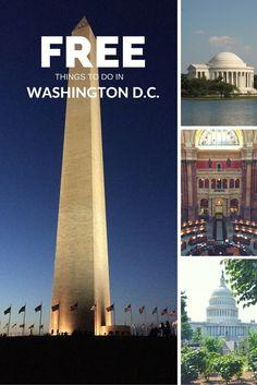 25 Free Things to do in Washington D.C. | tipsforfamilytrips.com