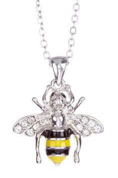 {Bumble Bee Pendant Necklace}